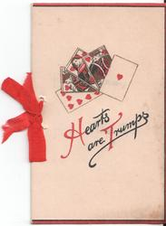 HEARTS ARE TRUMPS playing cards above