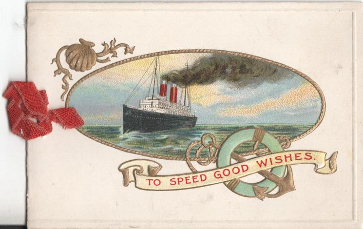 TO SPEED GOOD WISHES under inset of boat on water