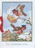 THE CHRISTMAS MAIL below inset of English robins dressed as postmen delivering mail, houses below