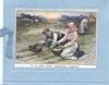IT IS LOVE THAT LIGHTENS LABOUR boy & girl on their knees gleening, woman back right