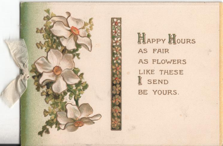 HAPPY HOURS... verse and daisies