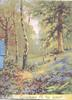 GLADNESS FILL THE HOURS below bluebells & trees, distant mother & boy