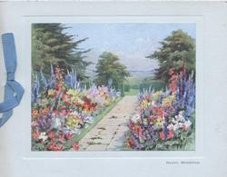 HAPPY MEMORIES below inset path between multicoloured flower beds