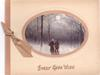 EVERY GOOD WISH opt. in brown below ovular inset of couple walking away in snow, sparse trees & full moon