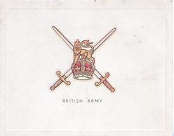 BRITISH ARMY below crest & crossed swords