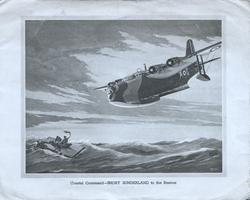 COASTAL COMMAND  -- SHORT SUNDERLAND TO THE RESCUE, 2 shipwrecked mariners
