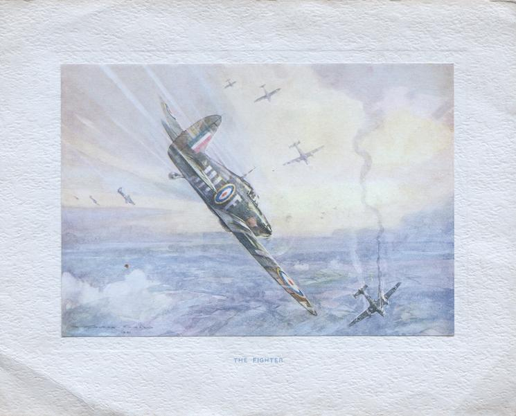 THE FIGHTER, RAF plane has just shot down a bomber