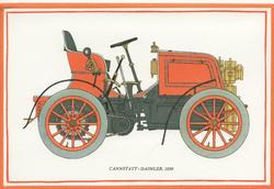 CANNSTATT - DAIMLER, 1899 antique car facing right
