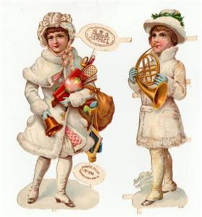 girls dressed in white