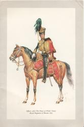 OFFICER --10TH (THE PRINCE OF WALES OWN) ROYAL REGIMENT OF HUSSARS 1835