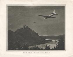 AIRCRAFT OF BOMBER COMMAND OVER THE RHINELAND
