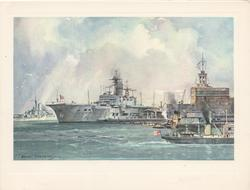 no front title, inside left  ..H.M.S. ARK ROYAL & H.M.S.VANGUARD