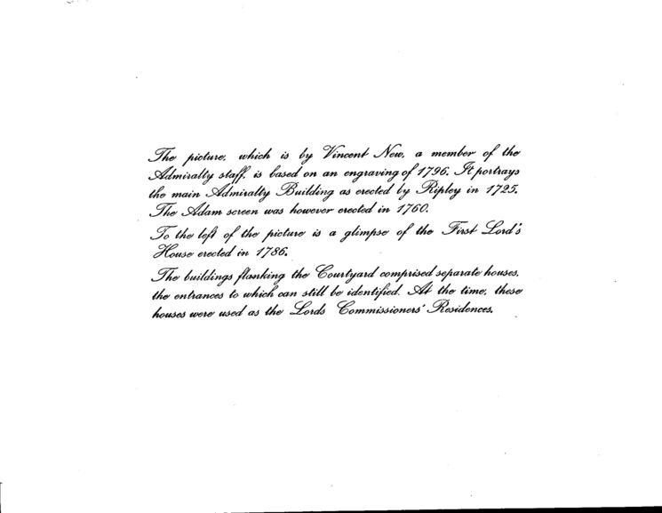 THE ADMIRALTY, PARLIAMENT STREET, CIRCA 1798