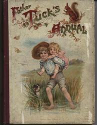 FATHER TUCK'S ANNUAL 1899 for 1900, boy gives young girl a piggyback ride