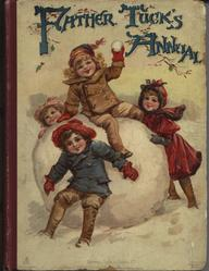 FATHER TUCK'S ANNUAL 1901 for 1902 four children on and around giant snowball