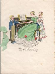 THE OLD SWEET SONG girl in green dress plays piano, boy & girl sing