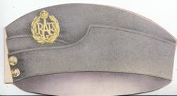 no front title, R.A.F. crest on grey uniform hat