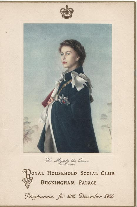 1956 PROGRAMME FOR 18TH DECEMBER, HER MAJESTY THE QUEEN