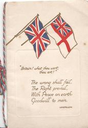 BRITAIN! WHAT THOU WERT, THOU ART! Union Jack & White Ensign