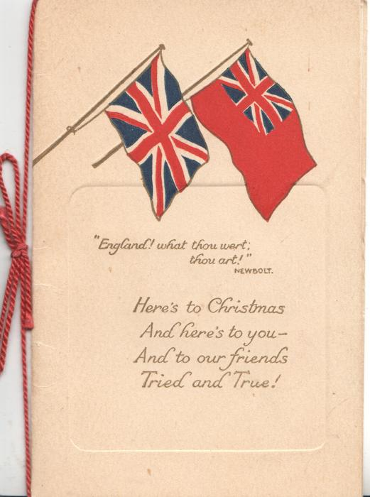 ENGLAND! WHAT THOU WERT, THOU ART! Union Jack & red Ensign