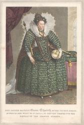 HER SACRED MAJESTY QUEEN ELIZABETH IN THE SUPERB DRESS...