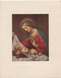 no front title, inset of Mary  looking down at Jesus