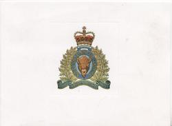 ROYAL CANADIAN MOUNTED POLICE motto MAINTIENS LE DROIT Buffalo head crest