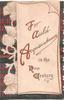 FOR AULD ACQUAINTANCE IN THE NEW CENTURY( illuminated) thistles & tartan on back sheet