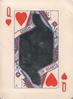 QUEEN OF HEARTS, playing card surrounding glass mirror-see scan
