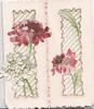 no front title, pink & white flowers over perforated flaps