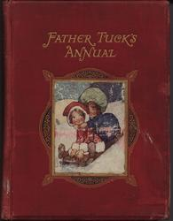 FATHER TUCK'S ANNUAL two girls on sled