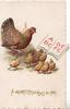 A MERRY CHRISTMAS TO YOU, hen teaches her chicks to read from alphabet book