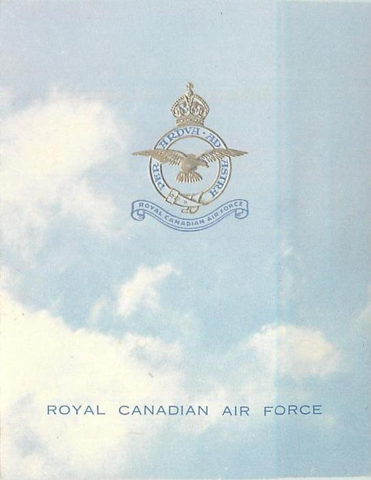 ROYAL CANADIAN AIR FORCE -- ROYAL CANADIAN FORCE OVERSEAS HEADQUARTERS (inside)