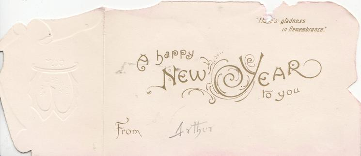 BEST WISHES(W in gilt) on plaque on small left flap