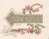 BEST WISHES on gilt plaque, purple heather above & below