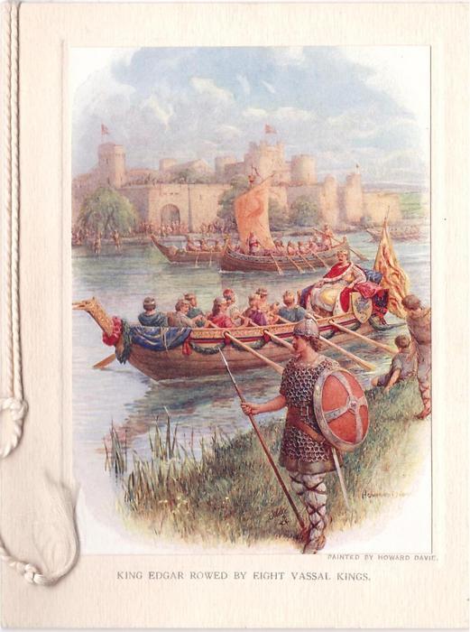 KING EDGAR ROWED BY EIGHT VASSAL KINGS