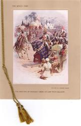THE MEETING OF RICHARD COEUR DE LION WITH SALADIN -- THE KING'S CARD