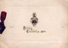 FRANCE CHRISTMAS 1917 gilt embossed under emblem SUA TELA TONANT