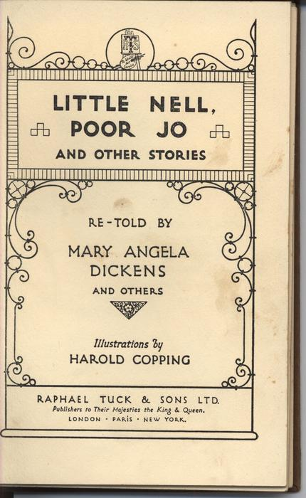 LITTLE NELL. POOR JO. AND OTHER STORIES