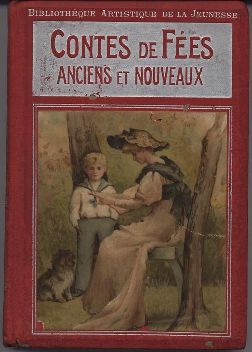 CONTES DE FEES ANCIENS ET NOUVEAUX red covers with silver accents,