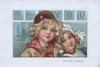 TO GREET YOU on blue tiles above head & shoulders of Dutch boy & girl cuddling  DOUBLE DUTCH below