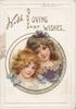 WITH LOVING WISHES(L illuminated) circular inset head & shoulders study of 2 girls