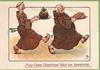 MAY GOOD DIGESTION WAIT ON APPETITE  2 monks stride right carrying mas pudding & turkey