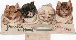 PUSSIES AT HOME CALENDAR FOR 1897