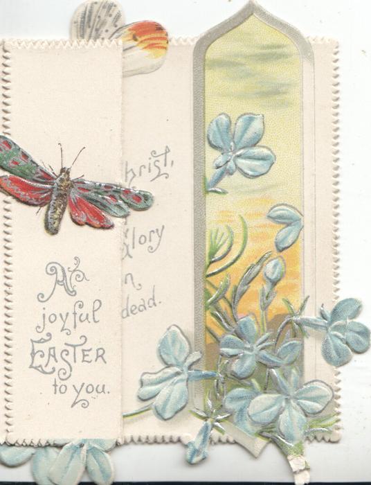 A JOYFUL EASTER TO YOU below butterfly  on left flap