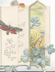 A JOYFUL EASTER TO YOU below butterfly  on left flap