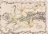 EASTER JOY in gilt below perforated inset of narcissi, marginal design
