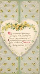WITH MELTING EYES OF DEEPEST BLUE,........yellow roses on & around heart shaped plaque