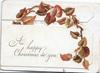 A HAPPY CHRISTMAS TO YOU virginia creeper autumn colour leaves across perforated front  panel