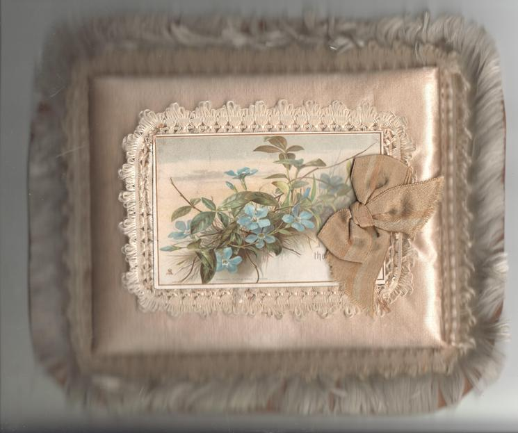 WITH THE SENDER'S FOND LOVE  blue periwinkle, gilt bow